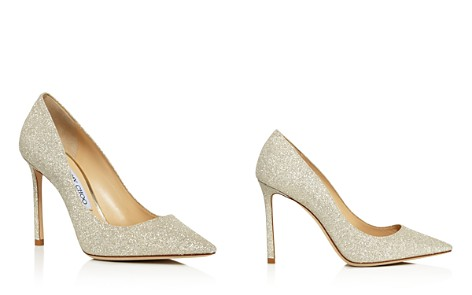 Jimmy Choo Women's Romy 100 Glitter Leather High Heel Pointed Toe Pumps - Bloomingdale's_2